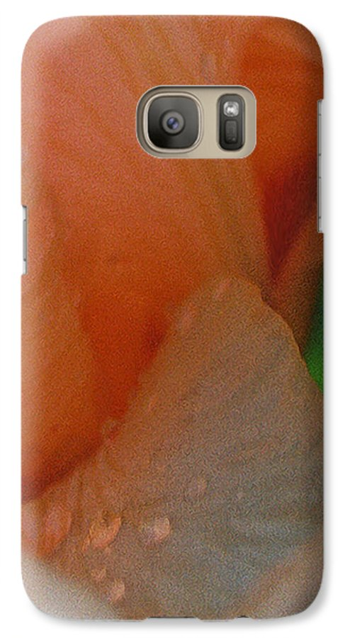 Abstract Galaxy S7 Case featuring the photograph Panel One From Iris by Steve Karol