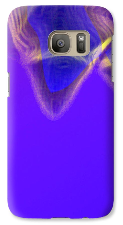 Abstract Galaxy S7 Case featuring the digital art Panel One From Movement In Blue by Steve Karol