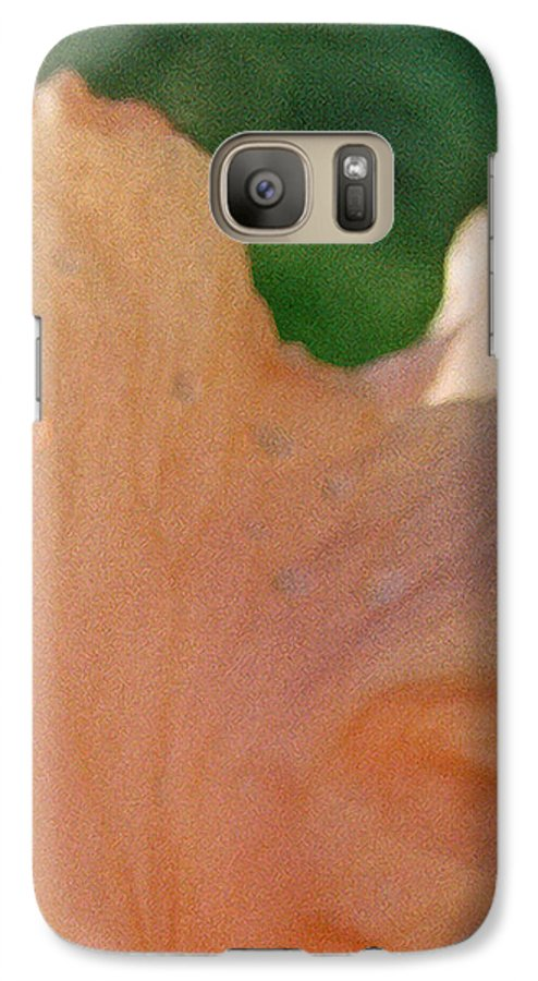 Abstract Galaxy S7 Case featuring the photograph Panel Three From Iris by Steve Karol