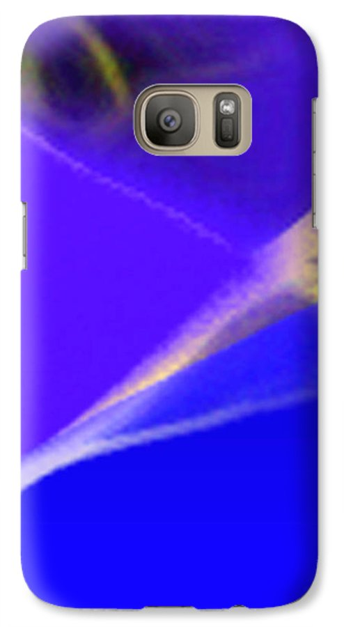Abstract Galaxy S7 Case featuring the digital art panel three from Movement in Blue by Steve Karol
