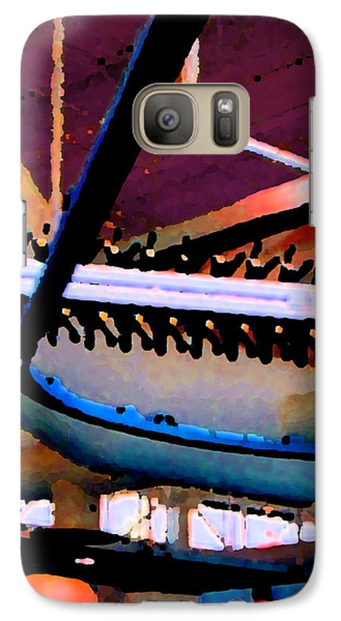 Abstract Galaxy S7 Case featuring the photograph Panel Three From Star Factory by Steve Karol