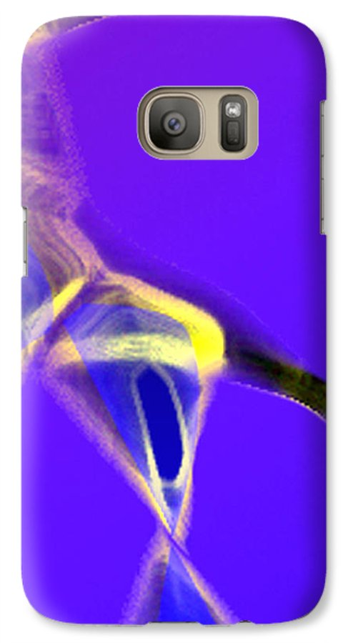 Abstract Galaxy S7 Case featuring the digital art panel two from Movement in Blue by Steve Karol