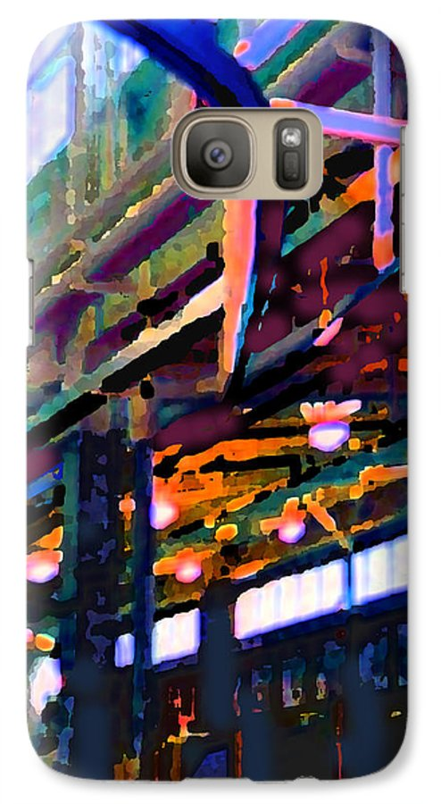 Abstract Galaxy S7 Case featuring the photograph panel two from Star Factory by Steve Karol