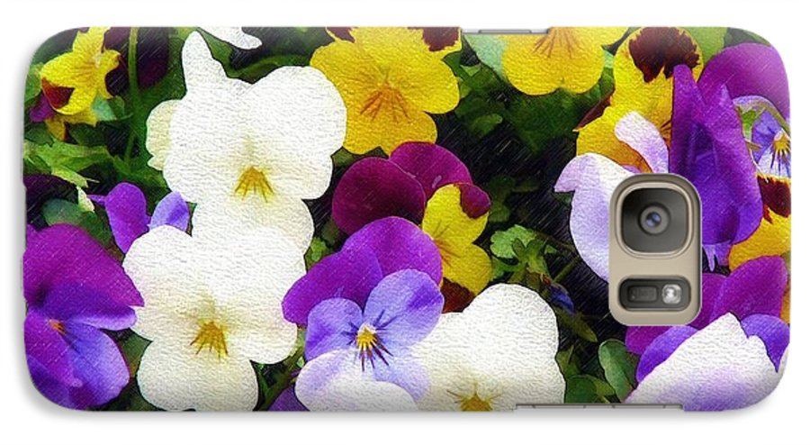 Pansies Galaxy S7 Case featuring the photograph Pansies by Sandy MacGowan