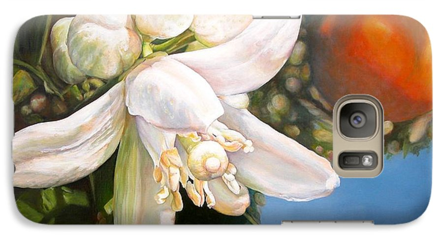 Floral Painting Galaxy S7 Case featuring the painting Parfum D by Muriel Dolemieux