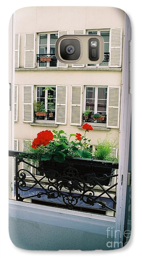 Window Galaxy S7 Case featuring the photograph Paris Day Windowbox by Nadine Rippelmeyer