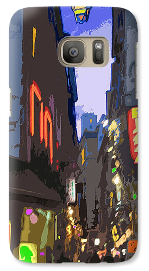 Paris Galaxy S7 Case featuring the photograph Paris Quartier Latin 01 by Yuriy Shevchuk