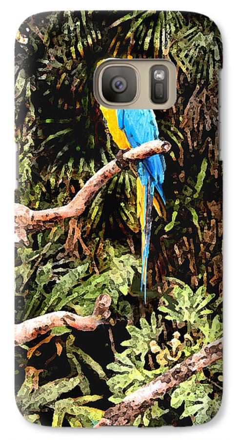 Parrot Galaxy S7 Case featuring the photograph Parrot by Steve Karol