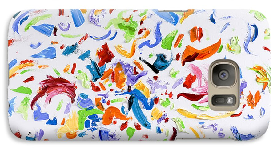 Red Galaxy S7 Case featuring the painting Party by Shannon Grissom