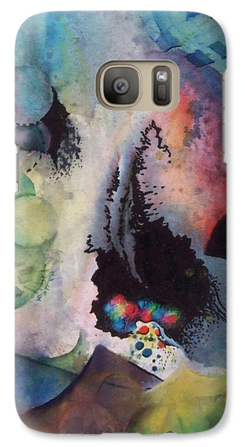 Abstract Galaxy S7 Case featuring the painting Passage Of Time by Virginia Potter