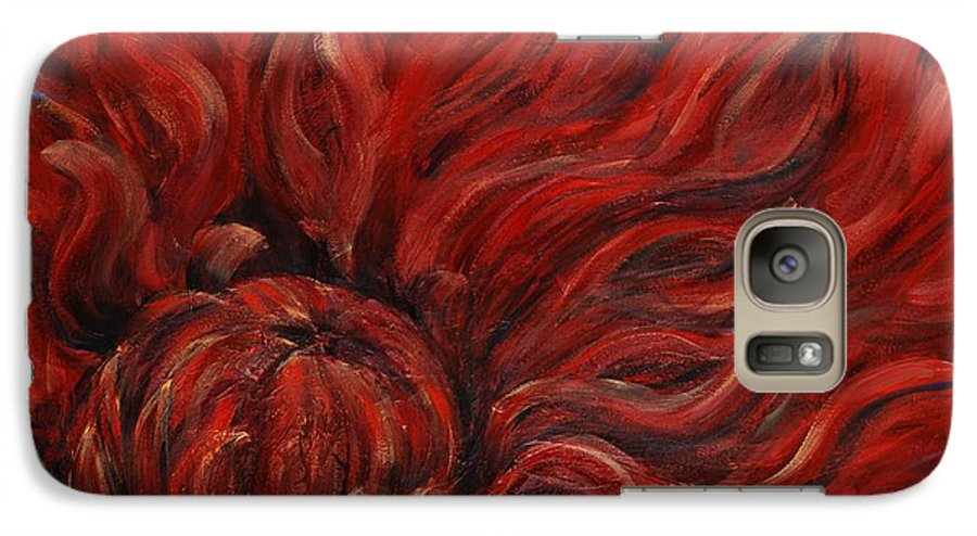 Flower Galaxy S7 Case featuring the painting Passion Iv by Nadine Rippelmeyer