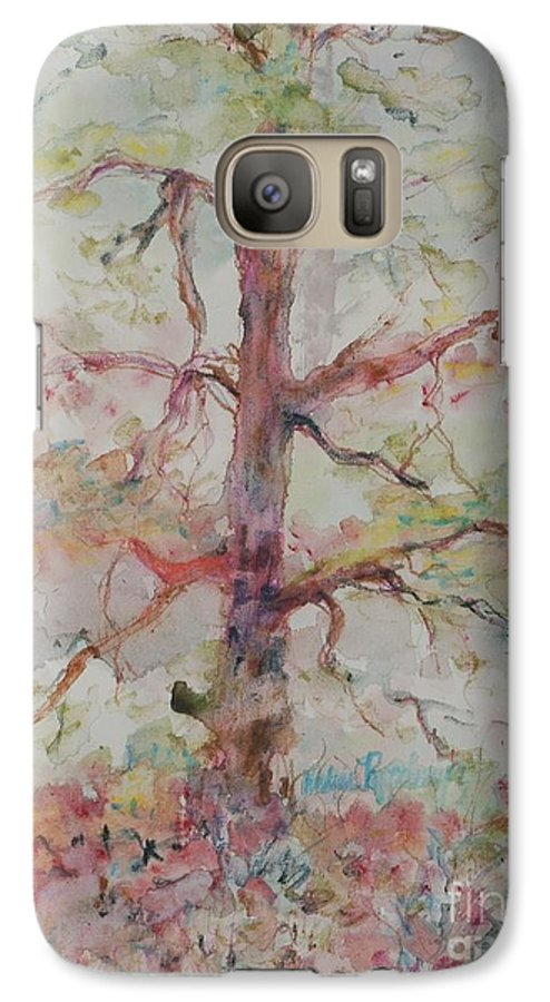 Forest Galaxy S7 Case featuring the painting Pastel Forest by Nadine Rippelmeyer