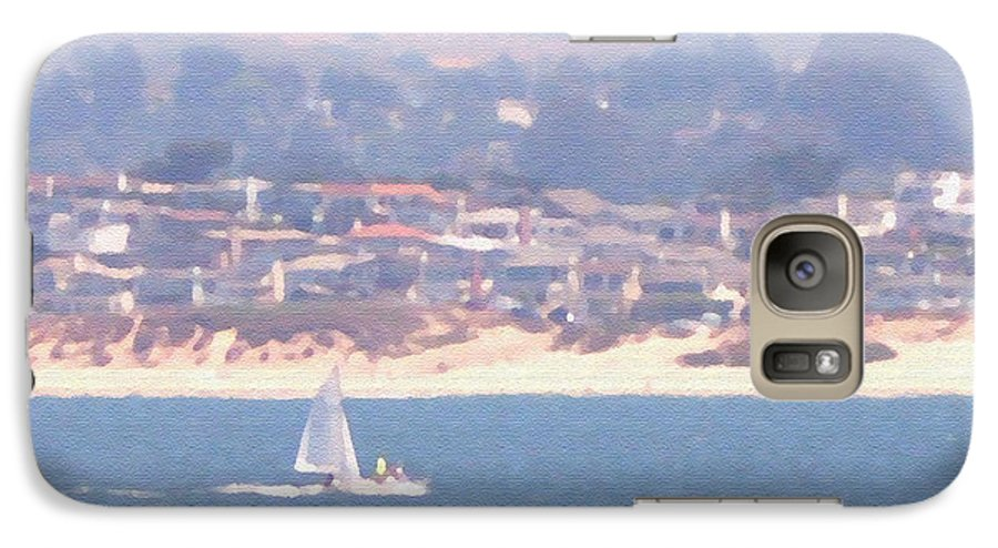 Sailing Galaxy S7 Case featuring the photograph Pastel Sail by Pharris Art