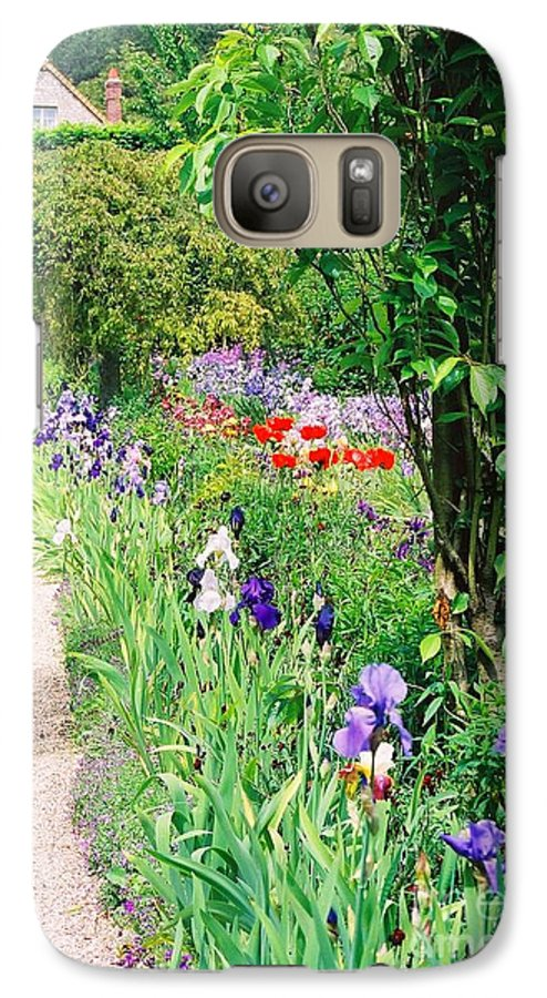 Claude Monet Galaxy S7 Case featuring the photograph Path To Monet's House by Nadine Rippelmeyer