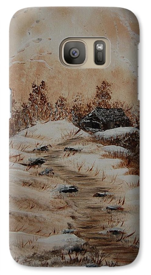 Acrylics Galaxy S7 Case featuring the painting Pathway To Freedom by Laurie Kidd