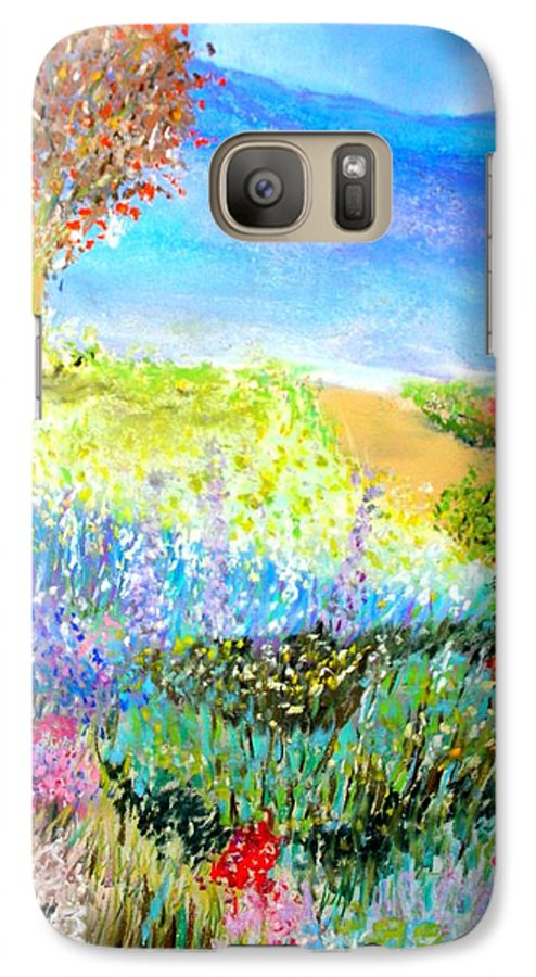 Landscape Galaxy S7 Case featuring the print Patricia's Pathway by Melinda Etzold