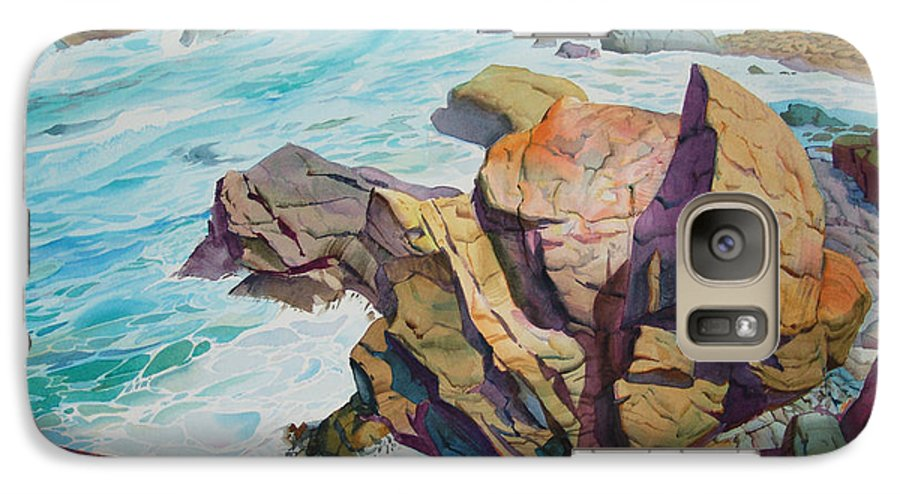 Watercolor Galaxy S7 Case featuring the painting Patricks Point by John Norman Stewart