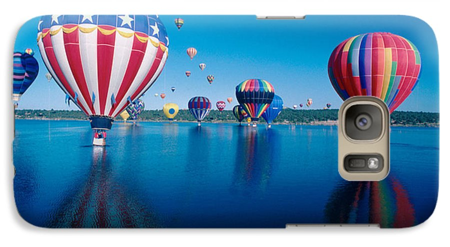 Hot Air Balloons Galaxy S7 Case featuring the photograph Patriotic Hot Air Balloon by Jerry McElroy