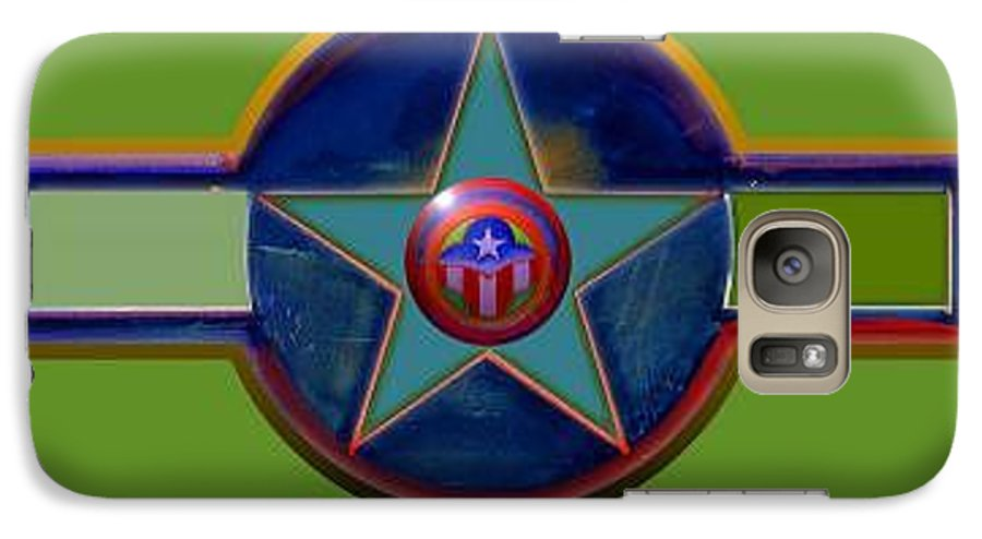 Usaaf Insignia Galaxy S7 Case featuring the digital art Pax Americana Decal by Charles Stuart
