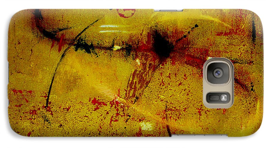 Abstract Galaxy S7 Case featuring the painting Pay More Careful Attention by Ruth Palmer