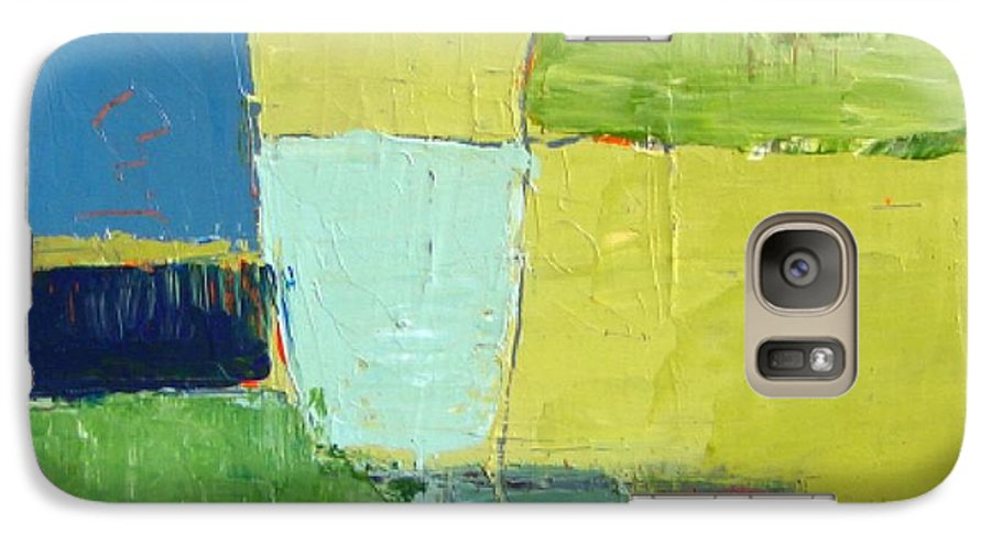Abstract Galaxy S7 Case featuring the painting Peace 1 by Habib Ayat