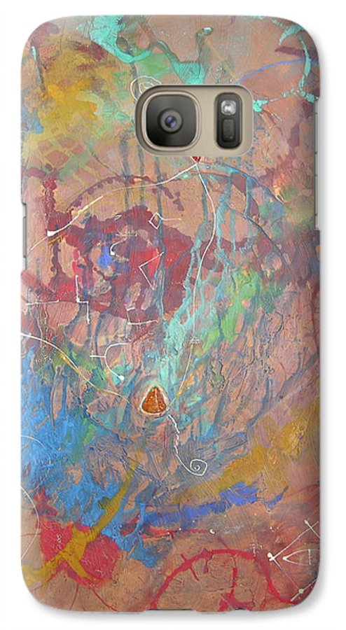 Modern Galaxy S7 Case featuring the painting Peace In Motion by Frederic Payet