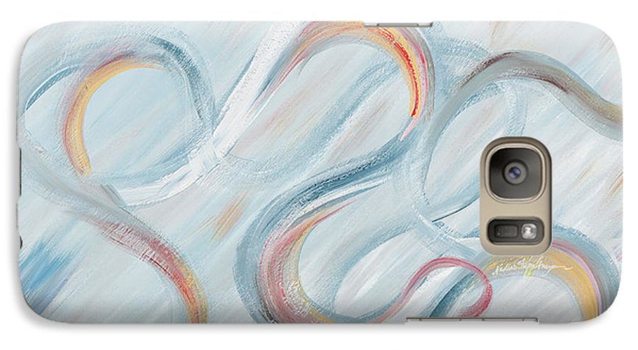 Peace Galaxy S7 Case featuring the painting Peace by Nadine Rippelmeyer