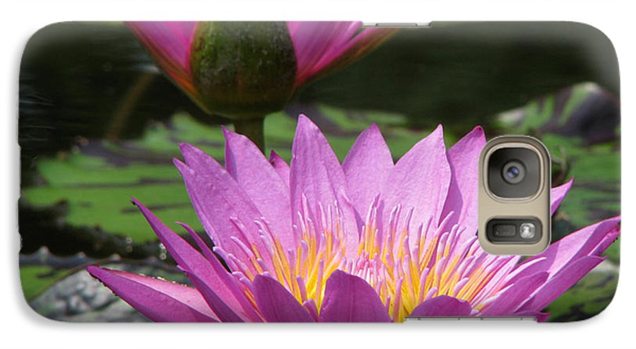 Lillypad Galaxy S7 Case featuring the photograph Peaceful by Amanda Barcon