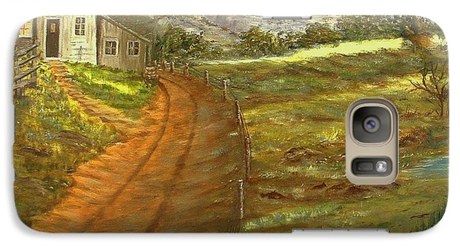 Landscape Galaxy S7 Case featuring the painting Peaceful Country by Kenneth LePoidevin