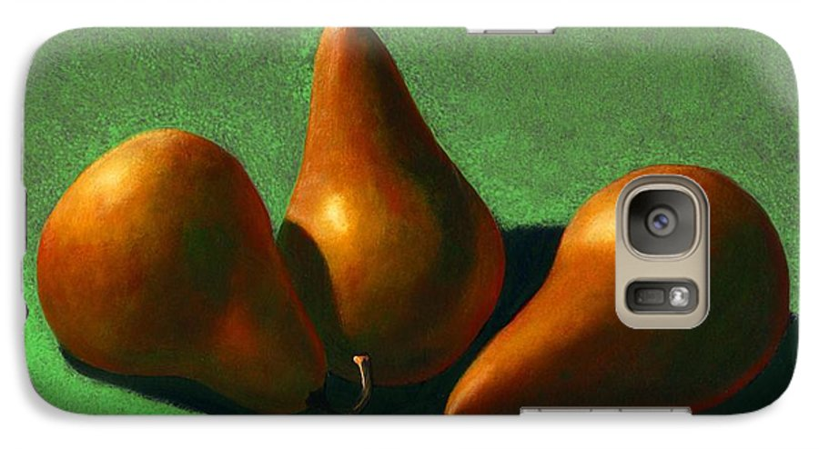 Still Life Galaxy S7 Case featuring the painting Pears by Frank Wilson