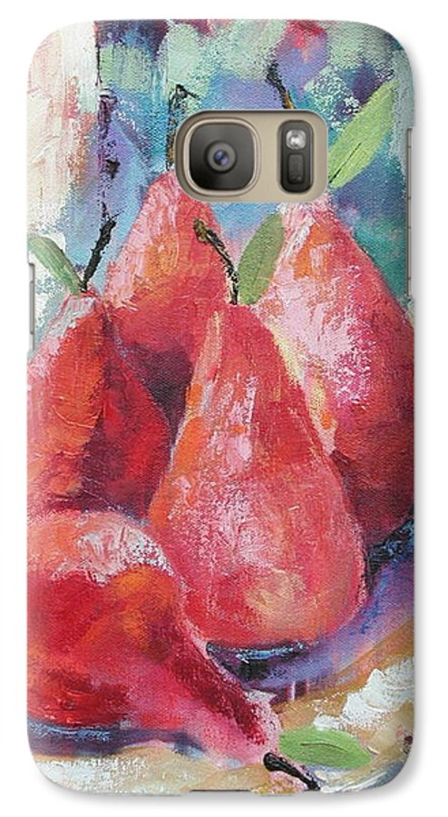 Pears Galaxy S7 Case featuring the painting Pears by Ginger Concepcion