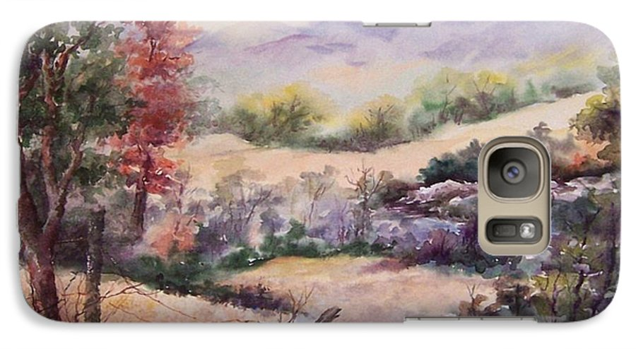 Fall Galaxy S7 Case featuring the painting Pee Dee Creek by Virginia Potter