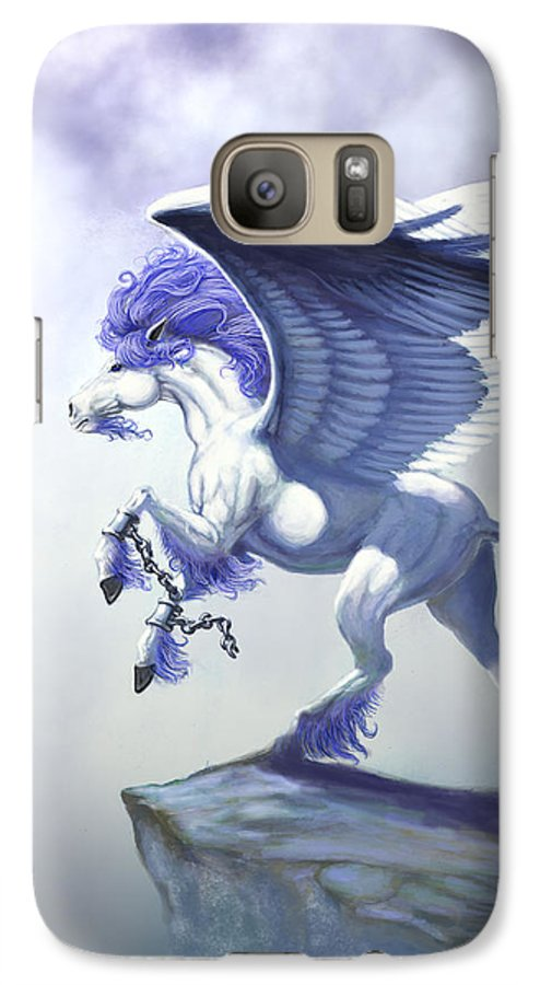 Pegasus.fantasy Galaxy S7 Case featuring the digital art Pegasus Unchained by Stanley Morrison
