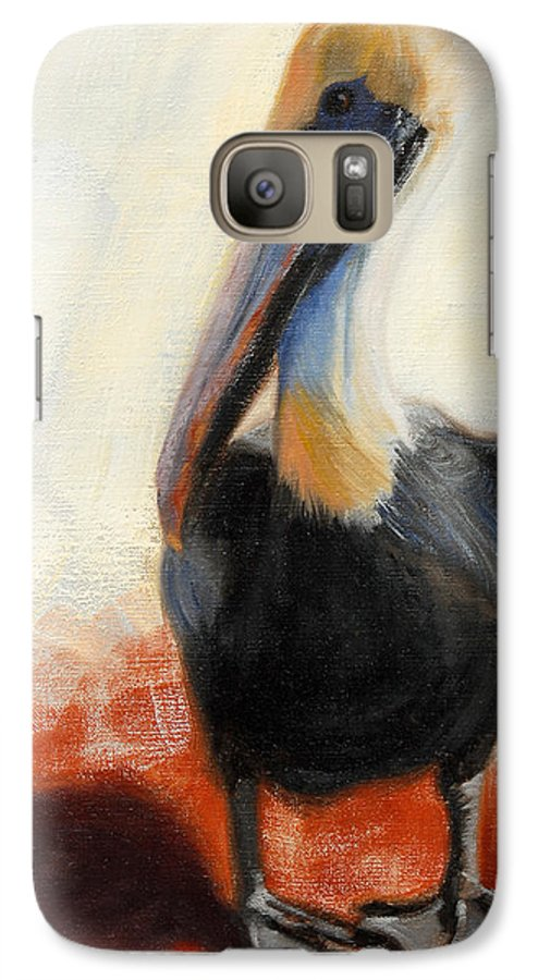 Pelican Galaxy S7 Case featuring the painting Pelican Study by Greg Neal