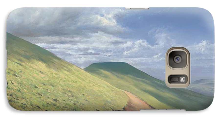 Pen Y Fan Galaxy S7 Case featuring the painting Pen Y Fan by Richard Picton