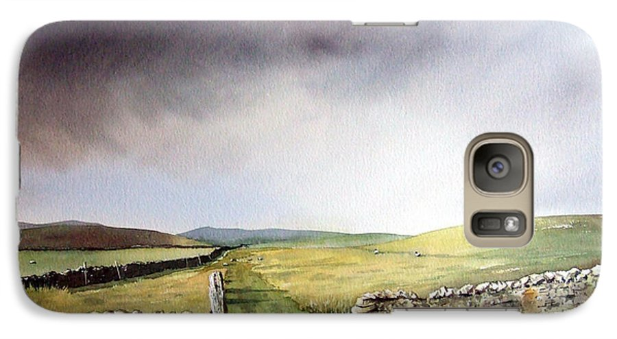 Landscape Galaxy S7 Case featuring the painting Pennine Way by Paul Dene Marlor