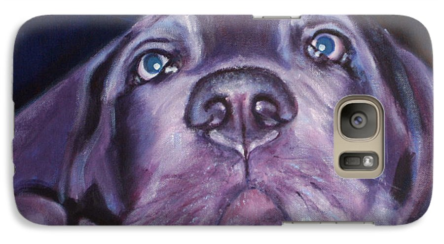 Portrait Galaxy S7 Case featuring the painting Pepper by Fiona Jack