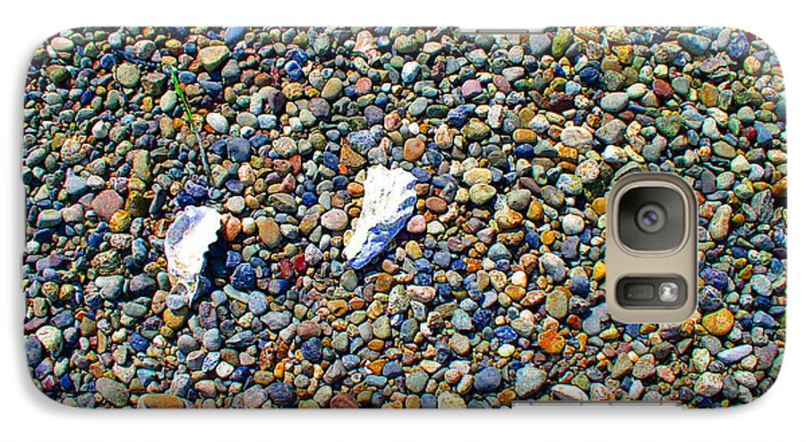 Beach Galaxy S7 Case featuring the photograph Pepples On The Beach by Valerie Josi
