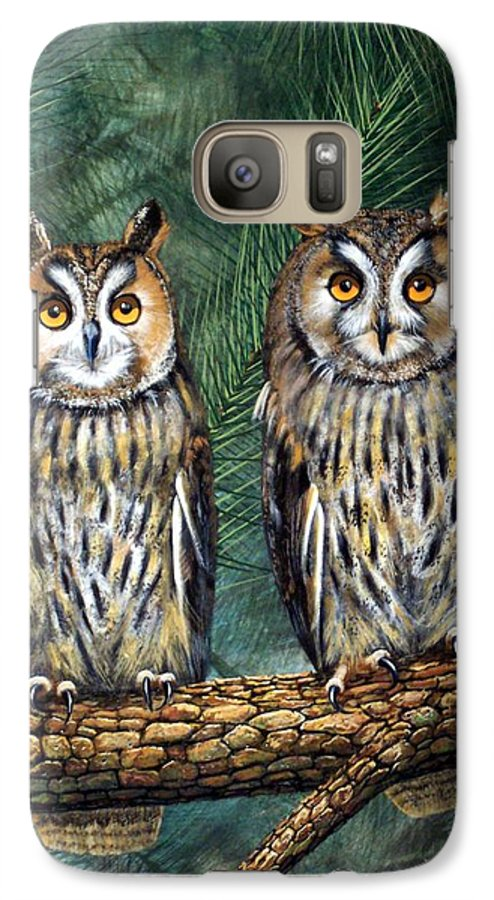 Wildlife Galaxy S7 Case featuring the painting Perfect Strangers by Frank Wilson