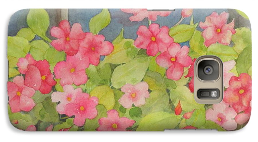 Flowers Galaxy S7 Case featuring the painting Perky by Mary Ellen Mueller Legault