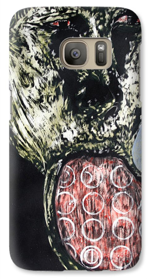 Portrait Galaxy S7 Case featuring the mixed media Persephone by Chester Elmore