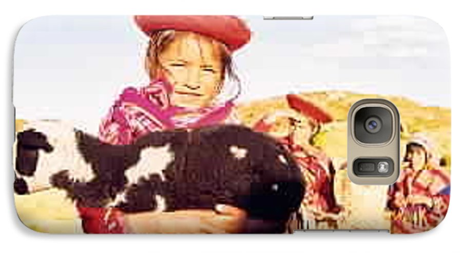 Peru Galaxy S7 Case featuring the photograph Peruvian Girl by Kathy Schumann