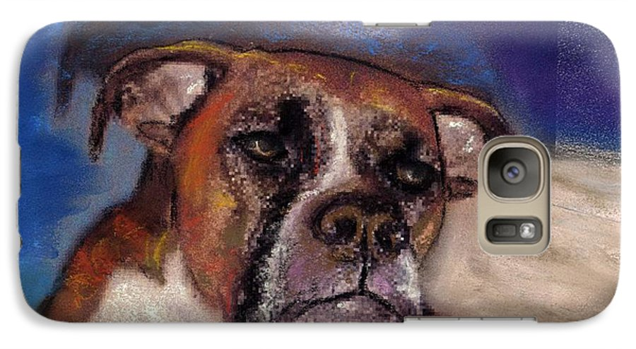 Pastel Pet Portraits Galaxy S7 Case featuring the painting Pet Portraits by Darla Joy Johnson
