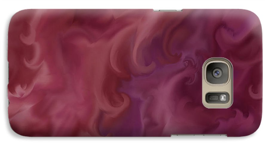 Fantasy Galaxy S7 Case featuring the painting Phoenix Rising by Anne Norskog