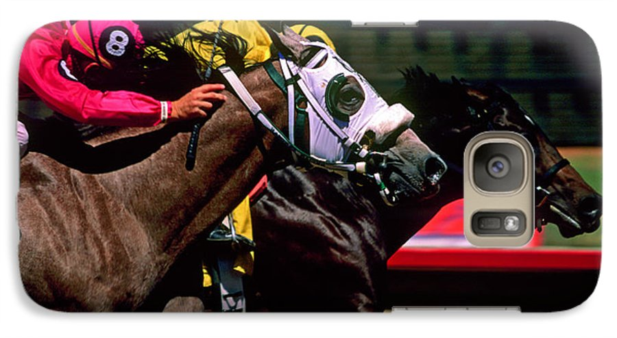 Horse Galaxy S7 Case featuring the photograph Photo Finish by Kathy McClure