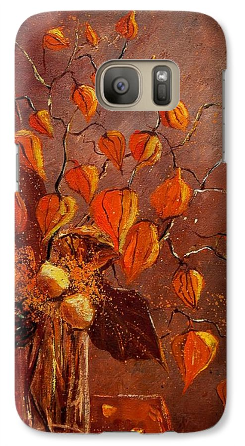 Poppies Galaxy S7 Case featuring the painting Physialis by Pol Ledent