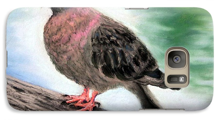 Pigeon Galaxy S7 Case featuring the painting Pigeon Toes by Minaz Jantz