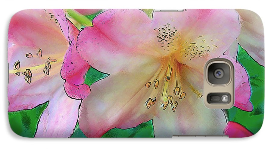 Ebsq Galaxy S7 Case featuring the photograph Pink Azalea by Dee Flouton