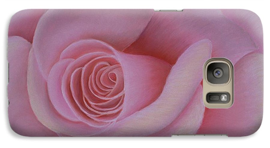 Rose Galaxy S7 Case featuring the painting Pink Blush by Mary Erbert