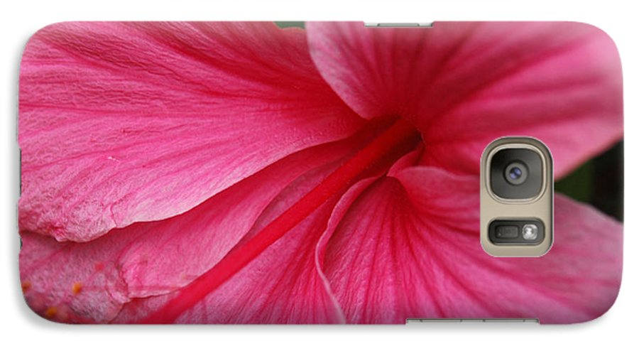 Pink Galaxy S7 Case featuring the photograph Pink Hibiscus by Kathy Schumann